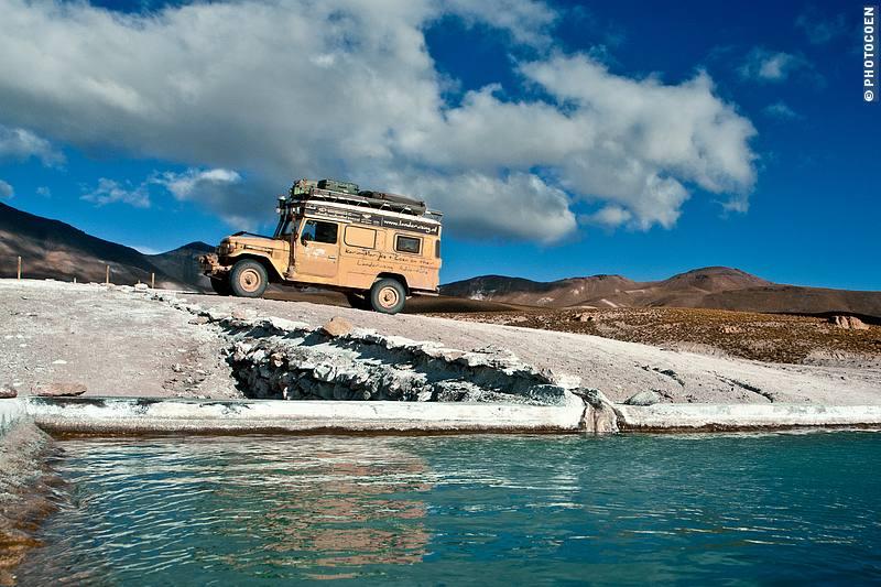 Wild Camping Near the hot spring of Puchuldiza, Isluga National Park, Chile.