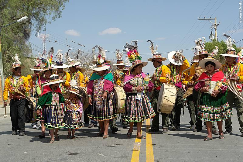 Autoctonous Parade during the Urkupiña Festival.