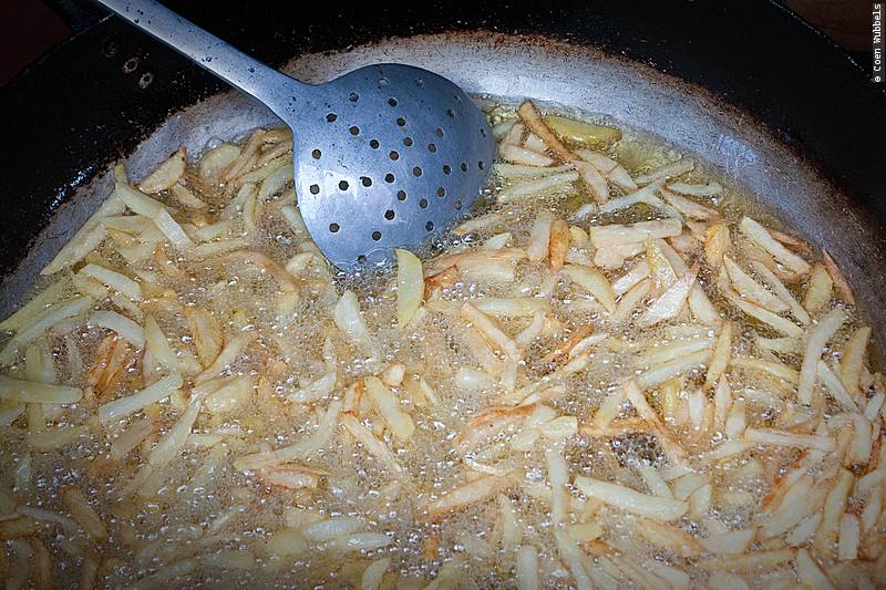French Fries often come with Sopa de Mani.