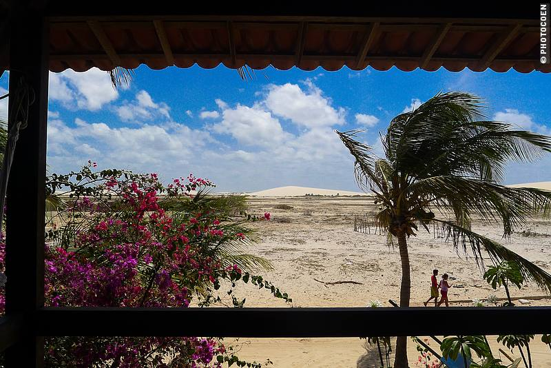 View of the Dunes from Pousada Vila Bela Vista in Jericoacoara, northeast Brazil (©photocoen)