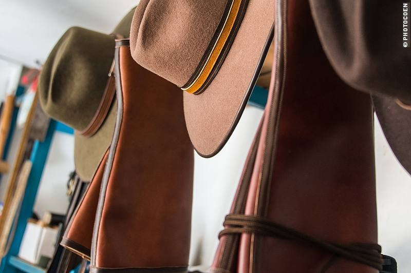Hats, belts and half chaps are some of Jaime additional handicrafts.