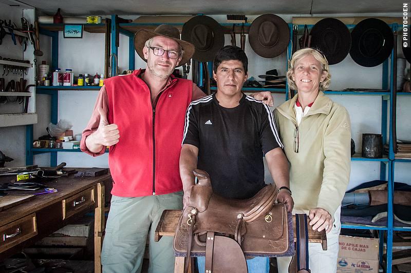 With the Saddle Maker in Zuleta, Ecuador (©photocoen)