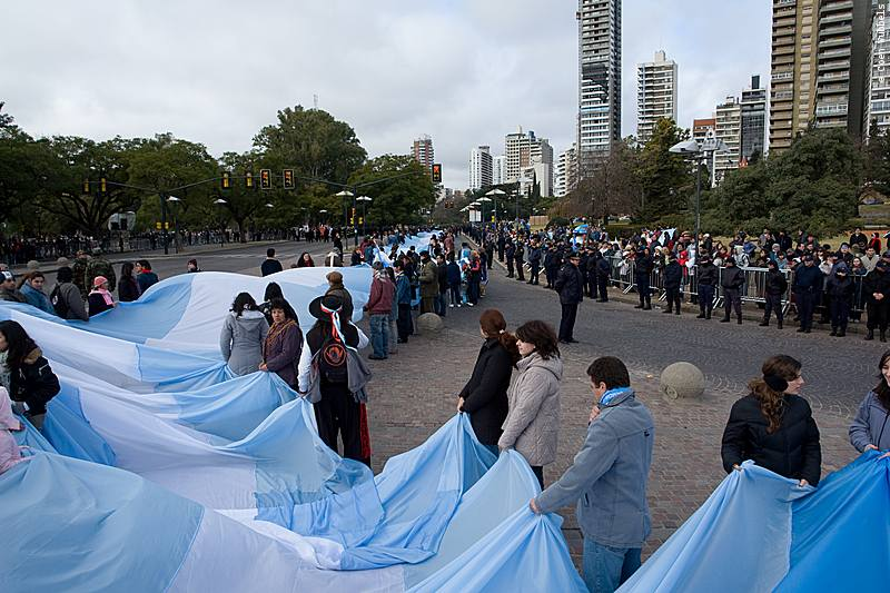 A big holiday in Argentina is Flag Day, when citizens carry Argentina's largest flag through the streets.