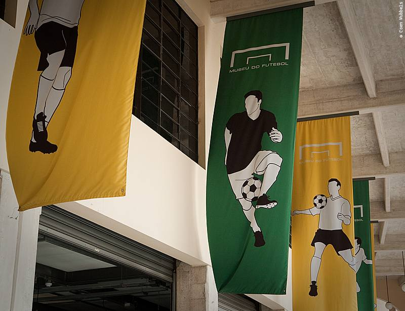 Banner of the Soccer Museum in São Paulo, Brazill