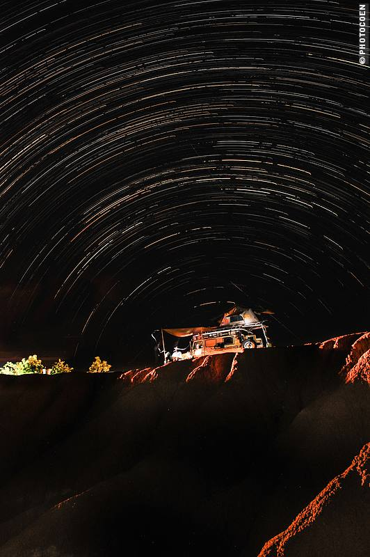 Star Trail Shooting in Tatacoa Desert, Colombia (©photocoen)