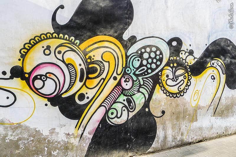 Street art in Huanchaco, Peru