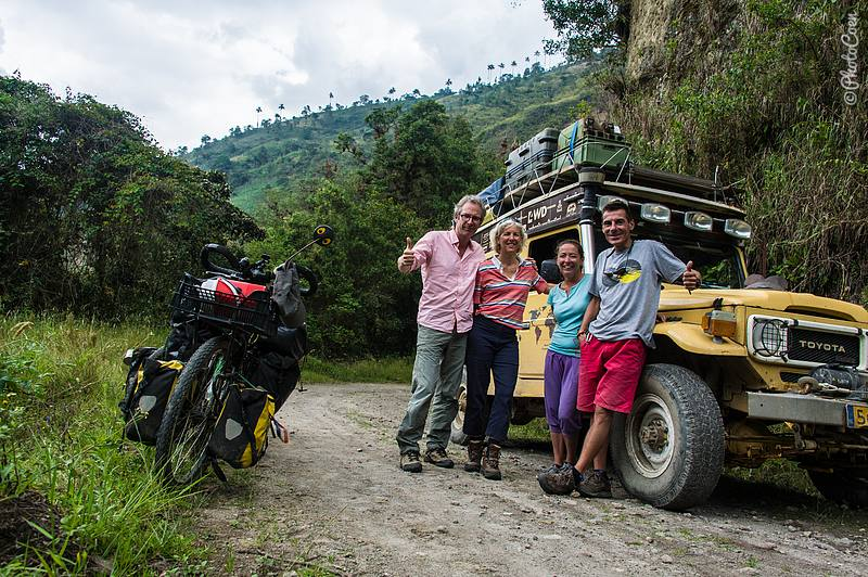 On our last road trip departing from Pereira we met these courageous French cyclists on a very tough, steep, unpaved pass.