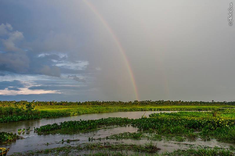 Rainbow across the Delta Orinoco, Venezuela (©photocoen)