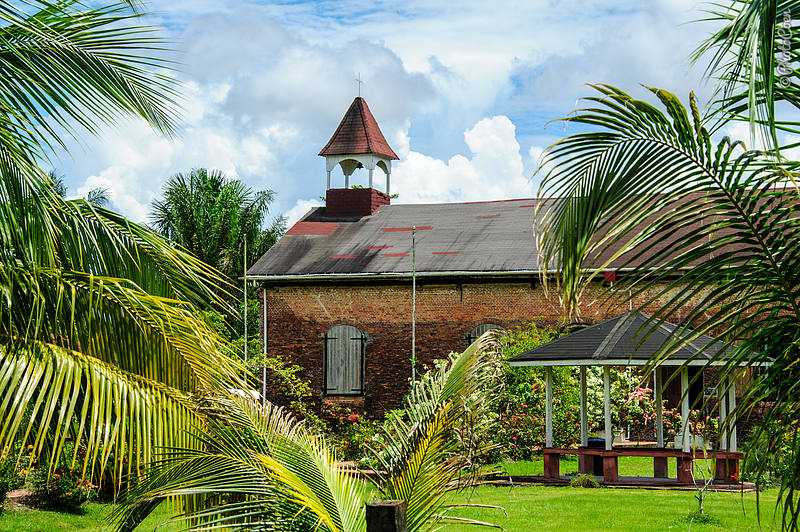 Court of Policy, on Fort Island, in the Essequibo River, Guyana.