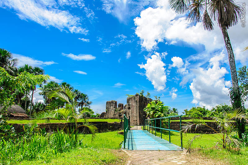 Fort Zeelandia, on Fort Island, in the Essequibo River, Guyana.