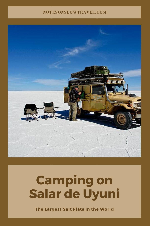 Camping at Salar de Uyuni, Bolivia