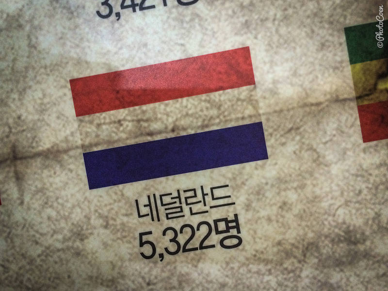 Number of Dutch soldiers in the Korean War.