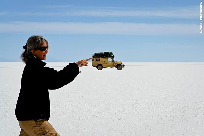 Slow Travel Destination - driving and camping on Salar de Uyuni, Bolivia