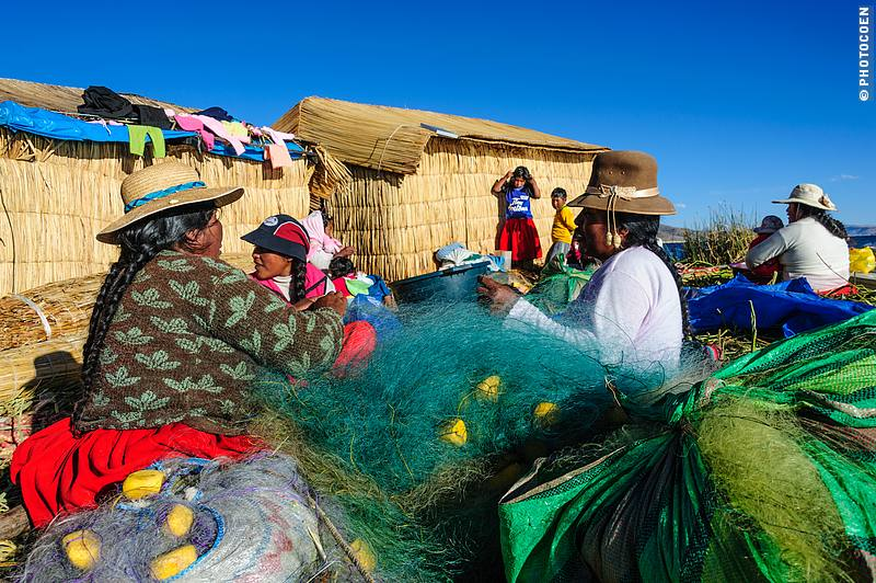 Slow Travel Destination: Uros People on Lake Titicaca who live on islands of reeds