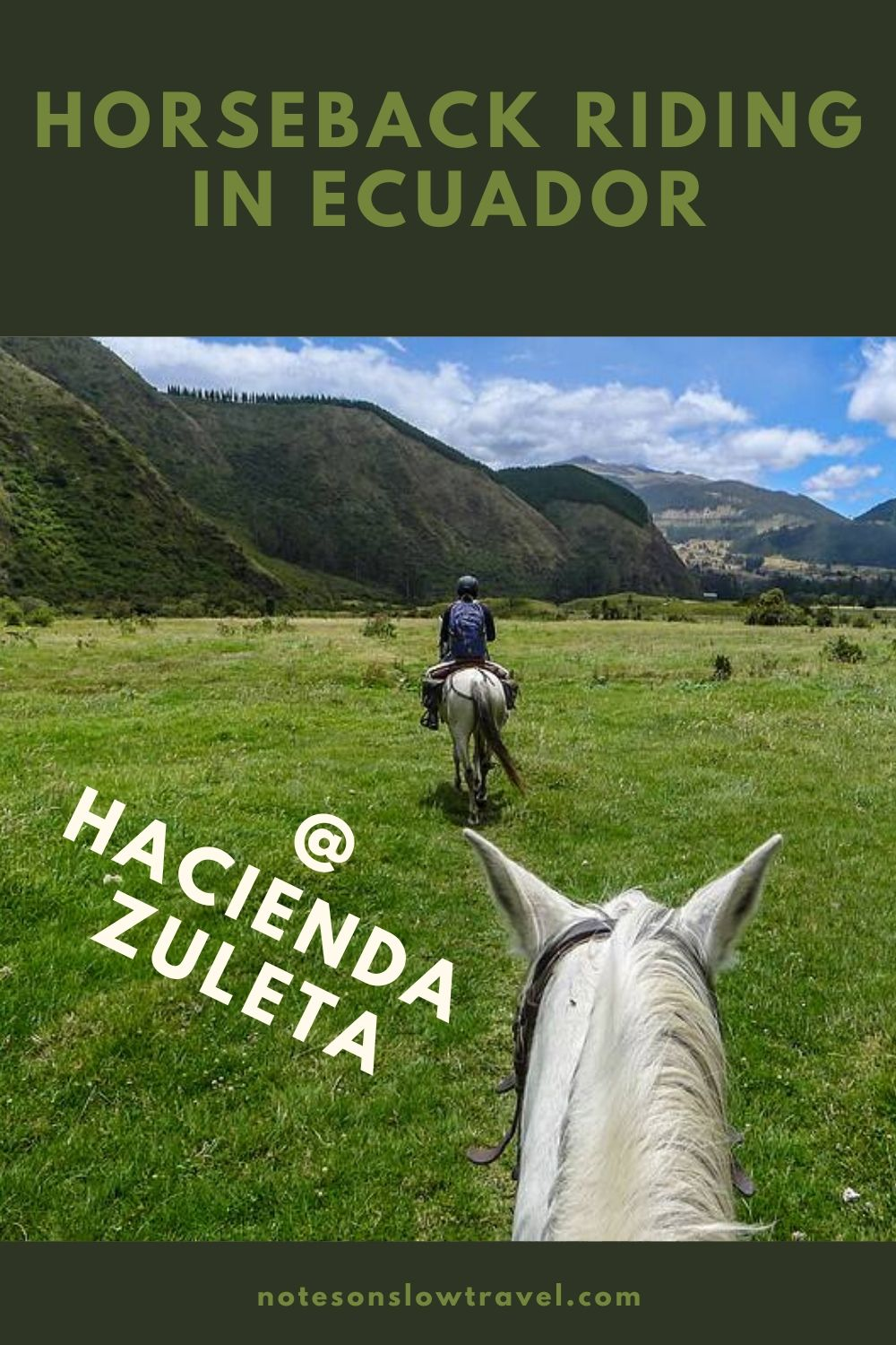 Horseback riding at Hacienda Zuleta, Ecuador