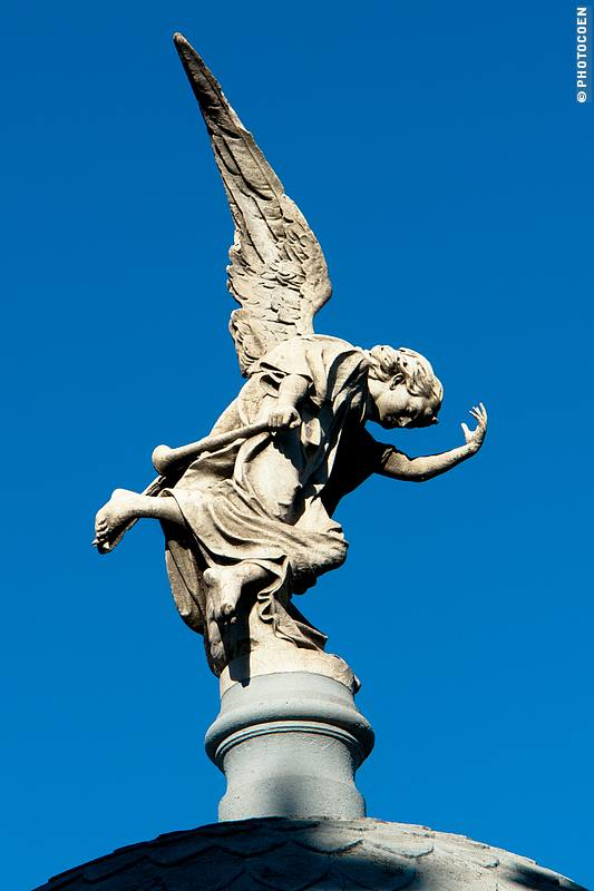 Recoleta Cemetery: here a sculpture of a white angel