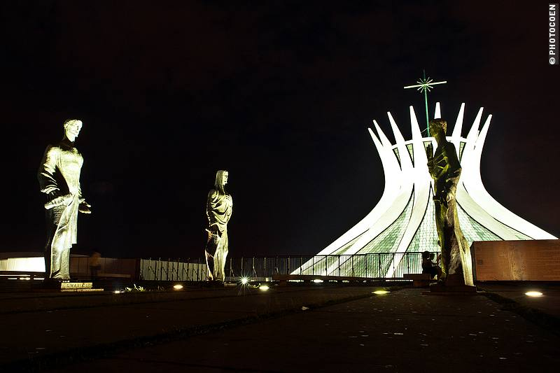 Modern architecture in Brasília by Oscar Niemeyer - the cathedral stands out from everything else.