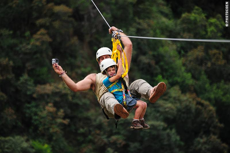 Slow travel in Peru at its best: Ziplining at Cola de Mono Lodge