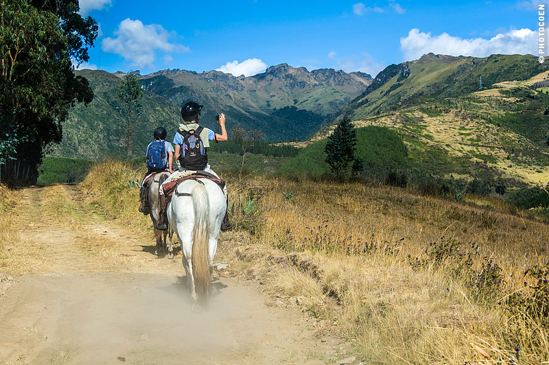 Slow travel on horse at Hacienda Zuleta, Ecuador