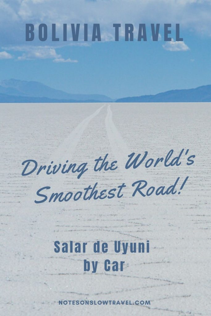 Driving on Salar de Uyuni, Bolivia