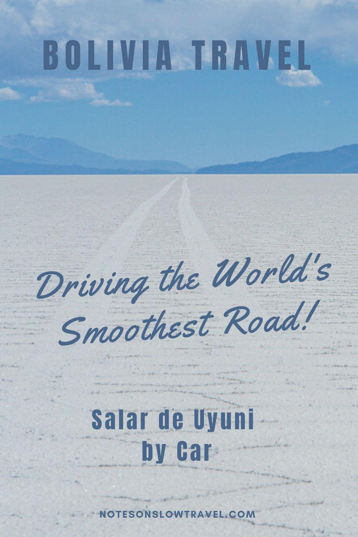 Driving on Salar de Uyuni, Bolivia
