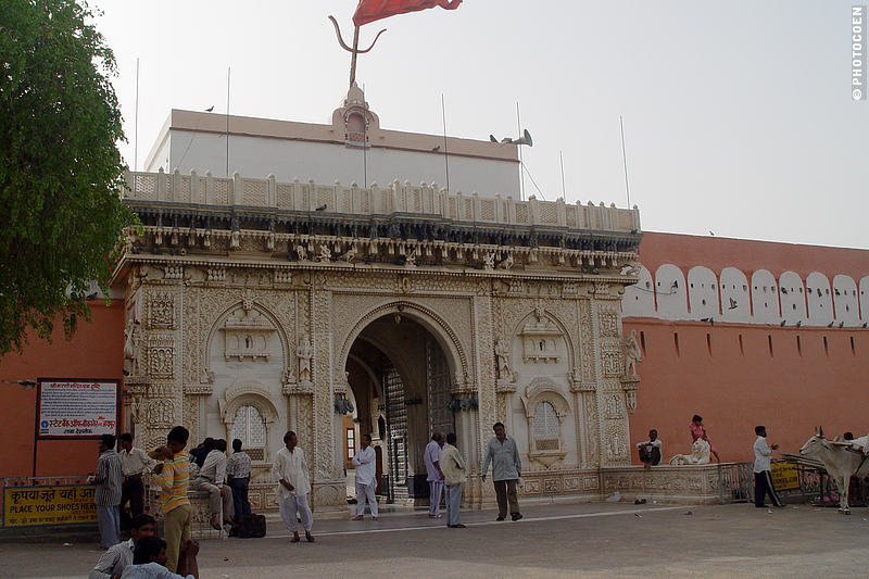 Elaborate Entrance of the Karni Mati Temple of Deshnok, India.