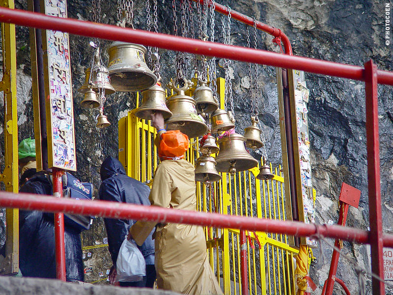 Amarnath pilgrimage ends at the Amarnath Cave, ring bells to make your presence known!