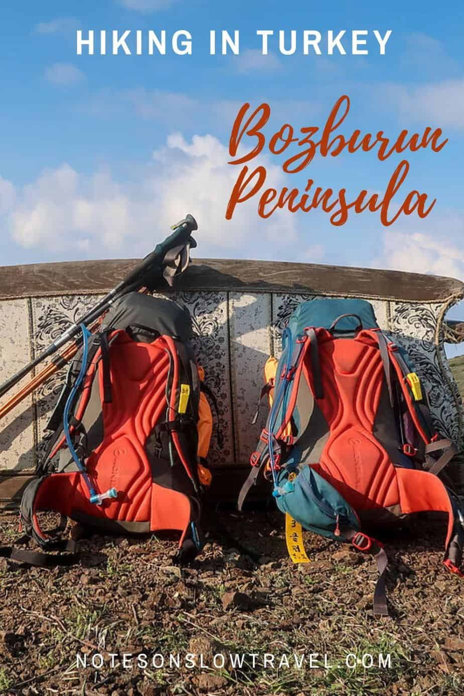 Hiking the Bozburun Peninsula, Carian Trail Turkey