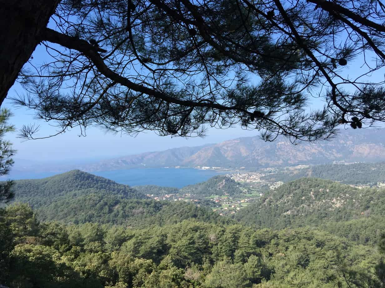 Slow Hiking the Carian Trail on the Bozburun Peninsula, a view from the coast