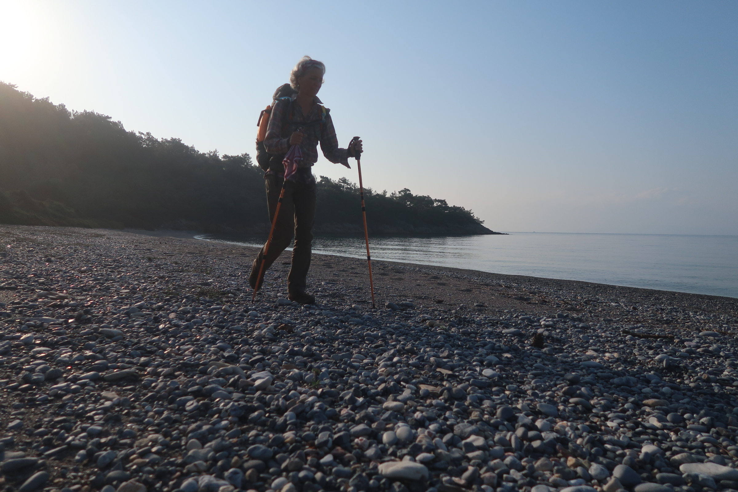 Slow hiking the Ceramic Gulf in Turkey - following the coast on the beach