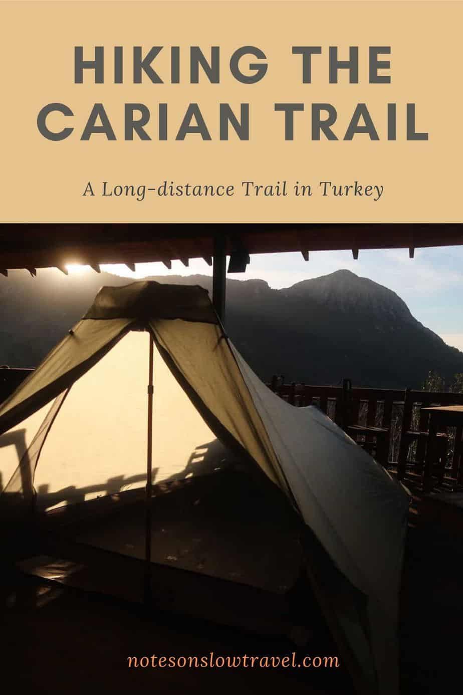 Hiking the Carian Trail - Setting up camp