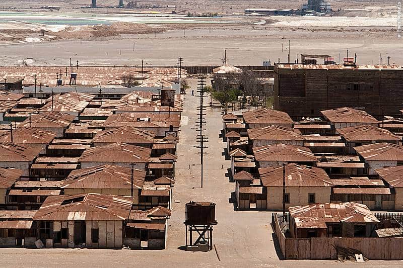 Ghost town of Humberstone in Chile